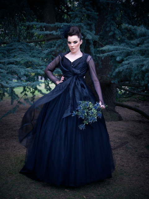 3092ad94c86 The Couture Company Alternative Bespoke Wedding Dresses And Corset Black  Unusual Quirky Custom Made RebeccaParkerCELESTEandCOAT
