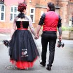 The-couture-company-alternative-bespoke-wedding-dresses-andunusual-quirky-custom-made-black-red-corset-tattoos-bridal-gown-JoC (32) (Copy)
