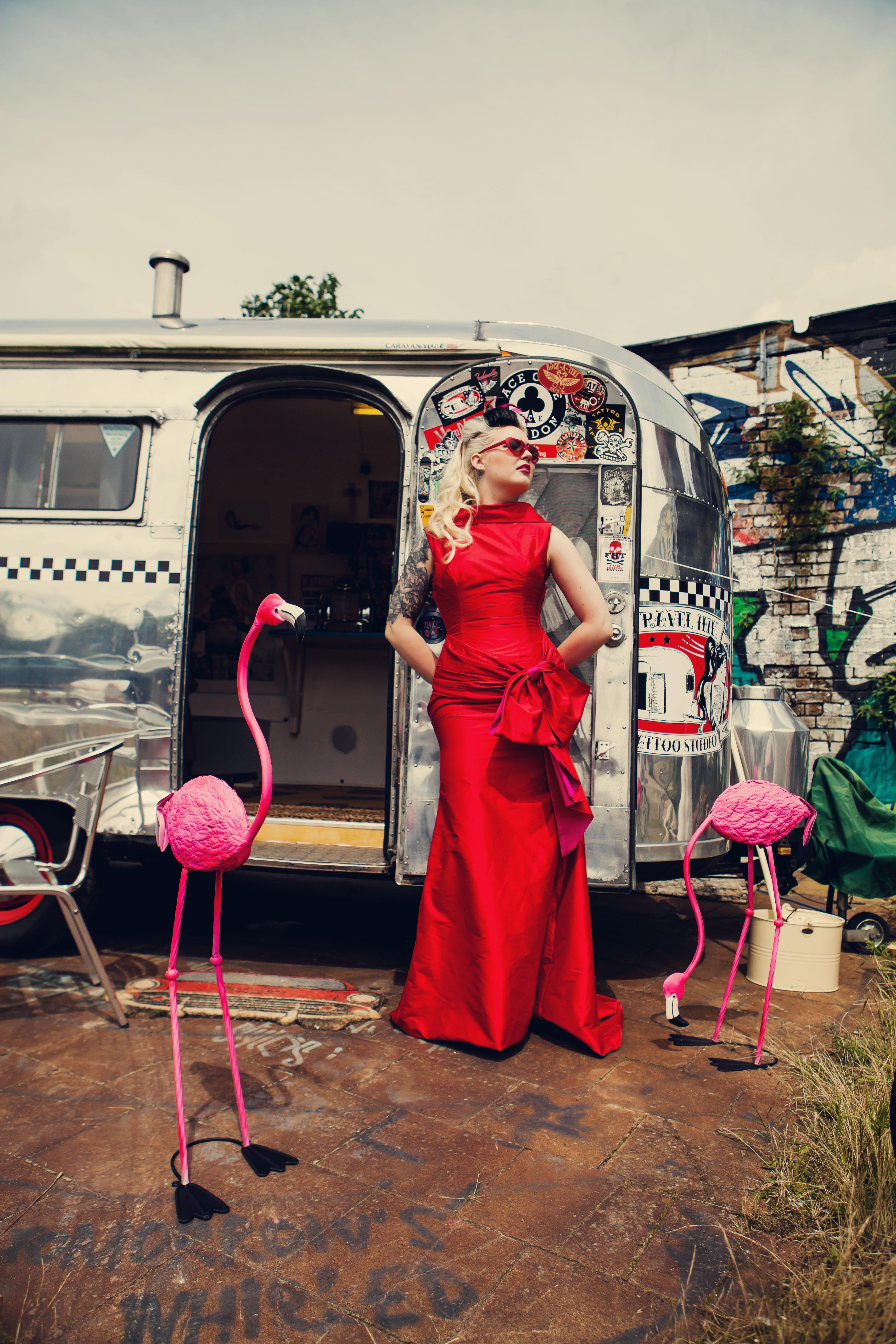 The Couture Company Alternative Bespoke Custom Made Wedding Dresses Rockabilly 1950s Tea Length