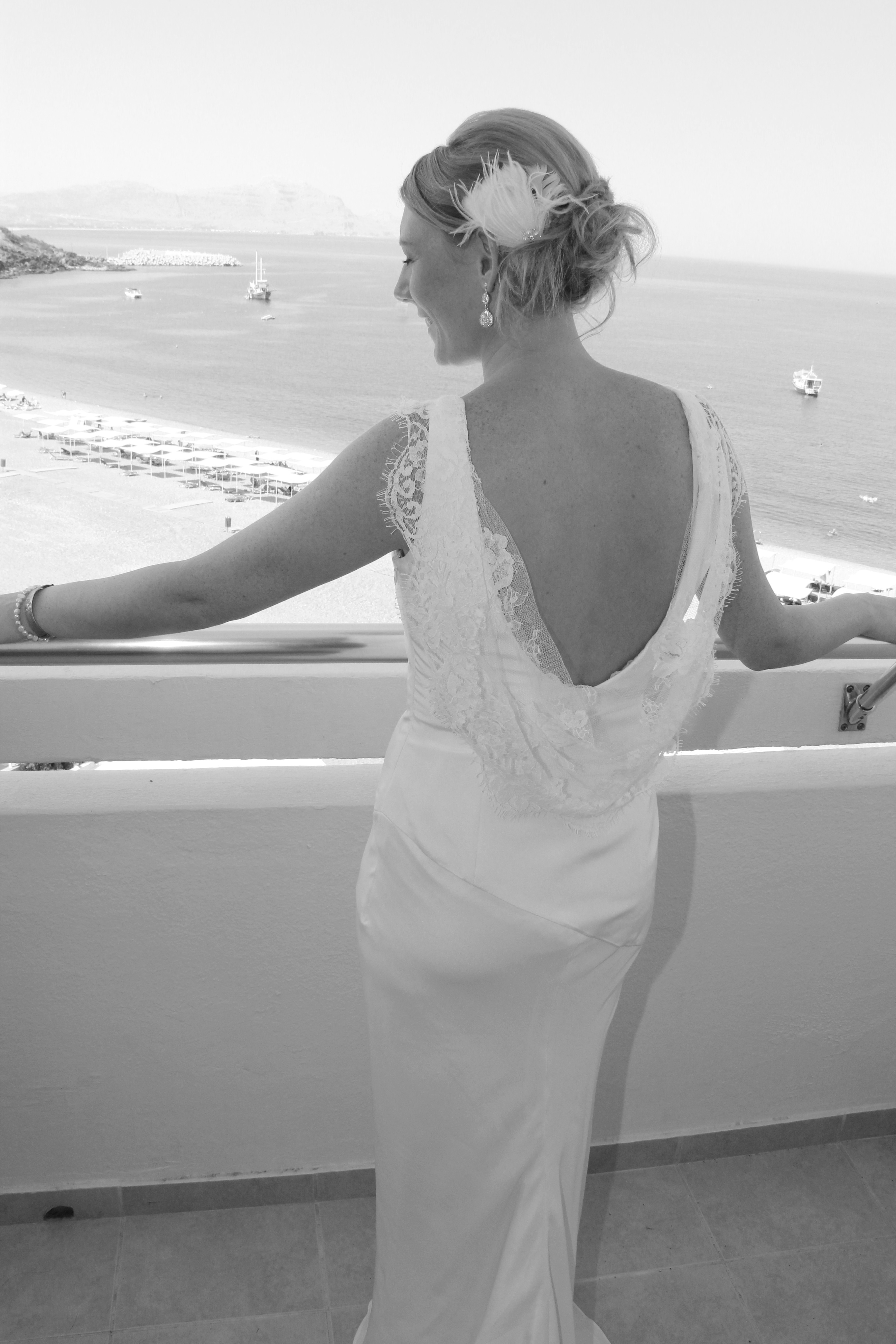 Low Cut Back Wedding Dresses The gown was cut low and