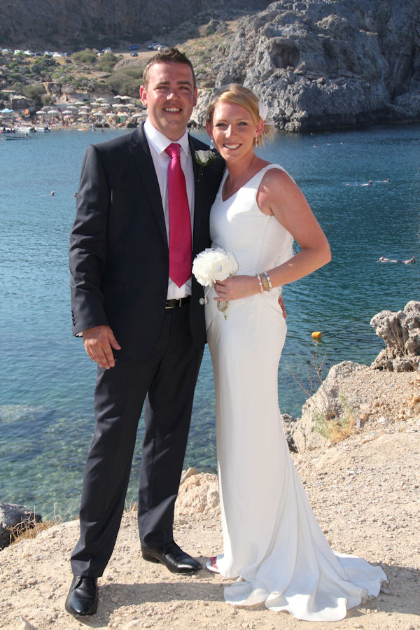 Laura : A simple bias cut gown for a wedding on Rhodes | The Couture ...