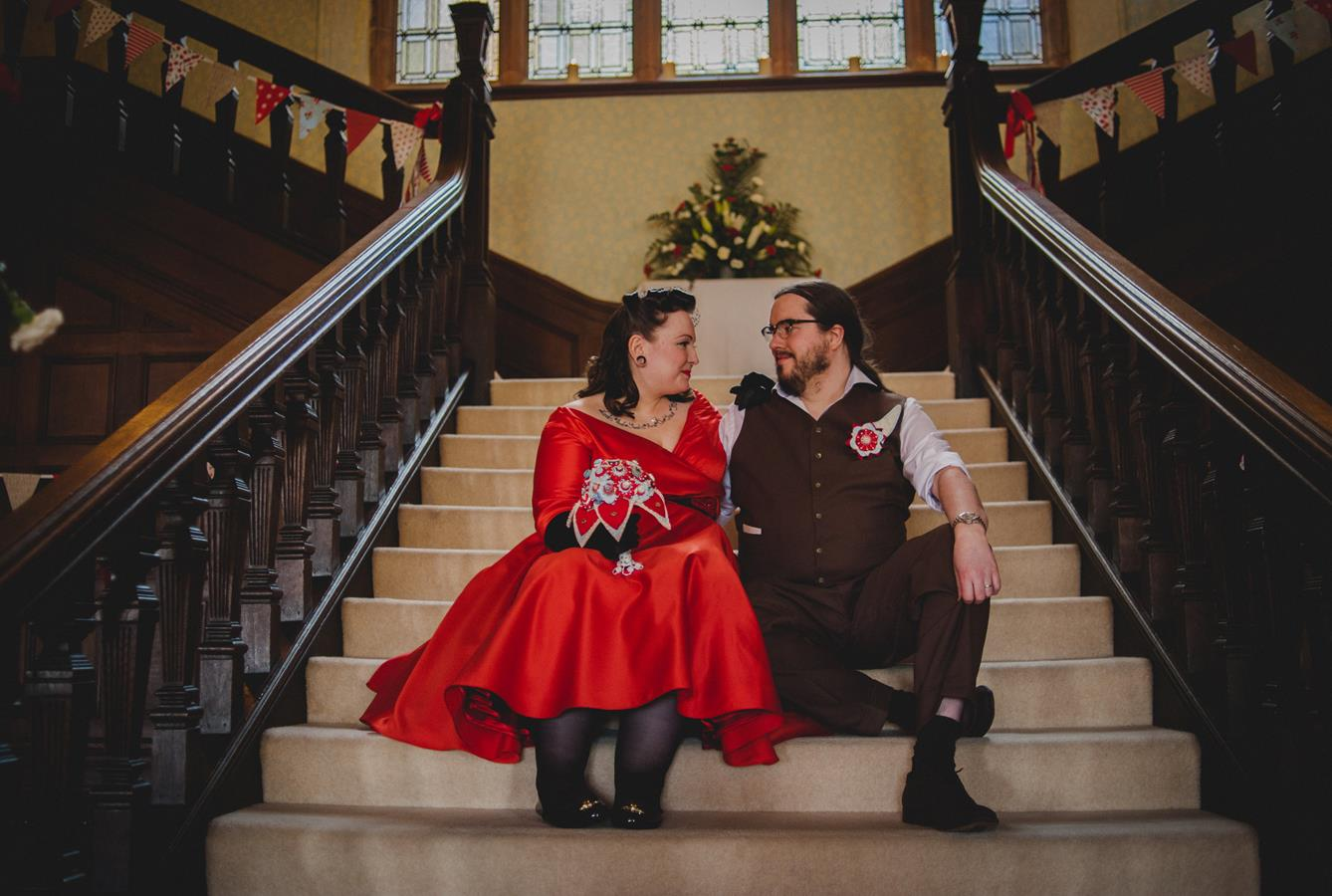 The-couture-company-alternative-bespoke-custom-made-wedding-quirky-dresses-rockabilly-1950s-tea-length-swing-vintage-lace-tattoo-tattooed-red-vegan-dress-bride-PhotoByToastofLeeds (15) (Copy)