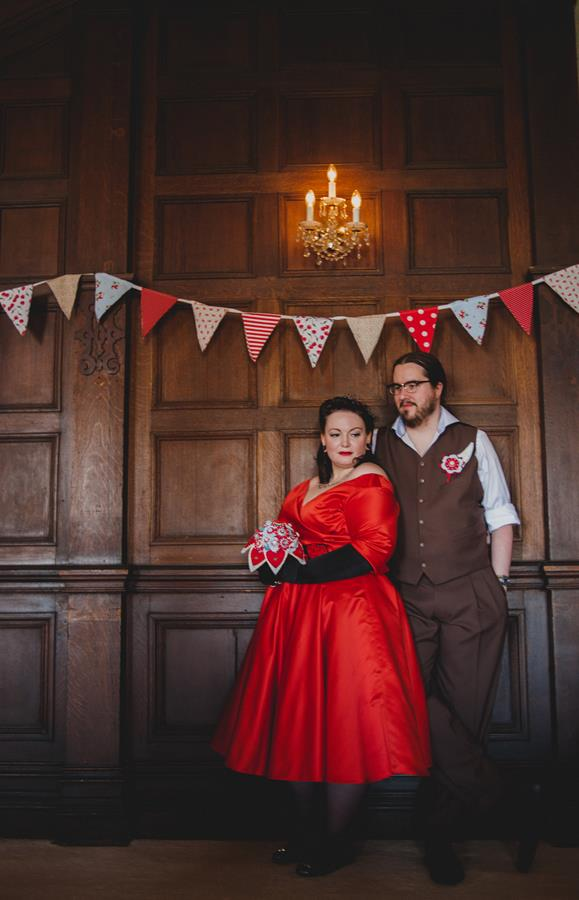 The-couture-company-alternative-bespoke-custom-made-wedding-quirky-dresses-rockabilly-1950s-tea-length-swing-vintage-lace-tattoo-tattooed-red-vegan-dress-bride-PhotoByToastofLeeds (16) (Copy)