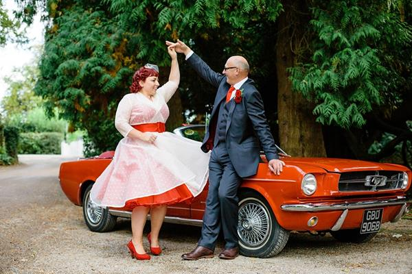 Tux-and-Tales-Photography-the-couture-company-alternative-bespoke-custom-made-wedding-dresses-polkadot-spotty-red- silk-rockabilly-1950s-tea-length-swing-vintage-lace-embroidered-dress-bride- (12) (Copy)