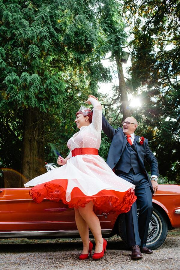 Tux-and-Tales-Photography-the-couture-company-alternative-bespoke-custom-made-wedding-dresses-polkadot-spotty-red- silk-rockabilly-1950s-tea-length-swing-vintage-lace-embroidered-dress-bride- (14) (Copy)