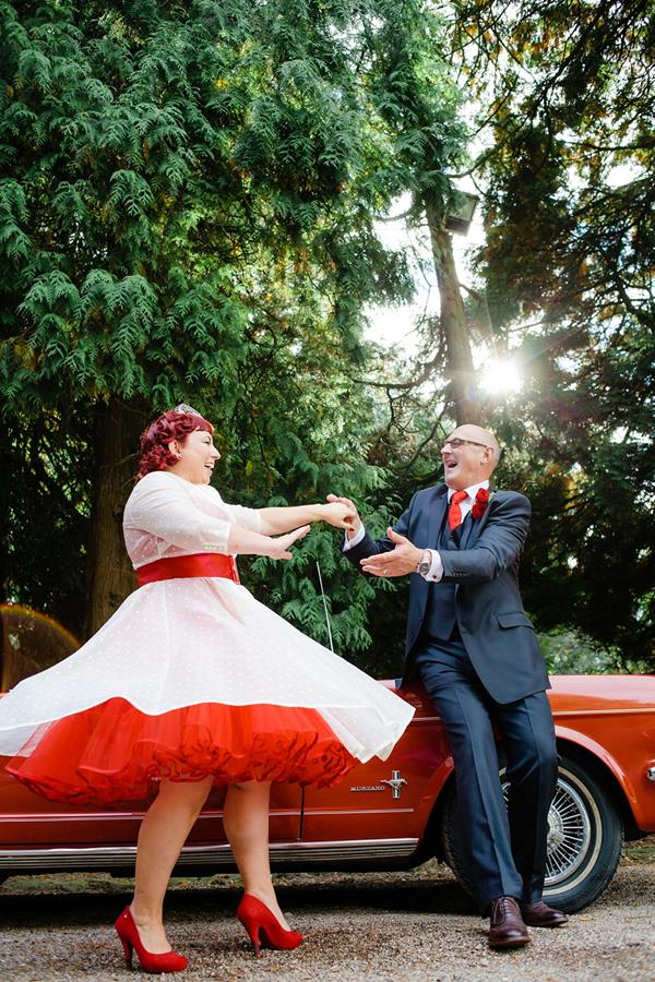 Tux-and-Tales-Photography-the-couture-company-alternative-bespoke-custom-made-wedding-dresses-polkadot-spotty-red- silk-rockabilly-1950s-tea-length-swing-vintage-lace-embroidered-dress-bride- (15) (Copy)
