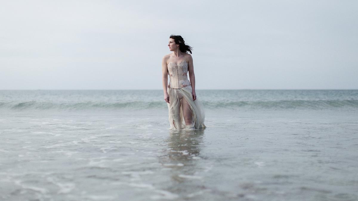 Song to the siren inspired - Windswept beach alternative wedding ...