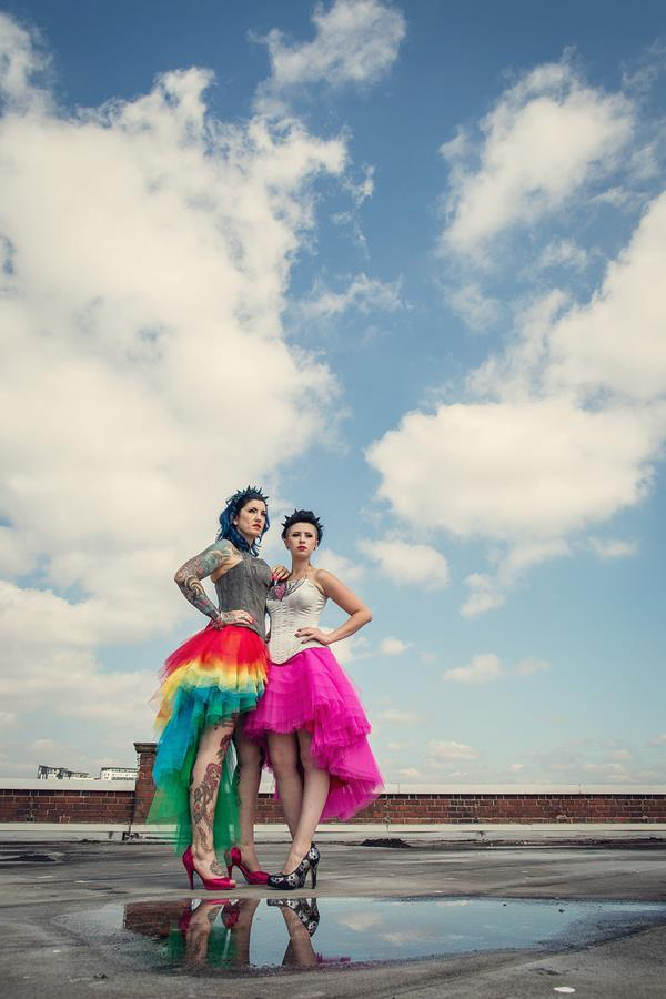 the-couture-company-alternative-bespoke-unusual-crazy-wedding-dress-coloured-colourful-hot-pink-rainbow-tattoo-corset-assassynation (2)