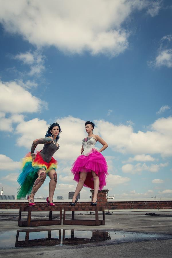 the-couture-company-alternative-bespoke-unusual-crazy-wedding-dress-coloured-colourful-hot-pink-rainbow-tattoo-corset-assassynation (5)