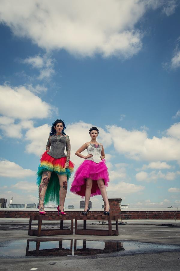 the-couture-company-alternative-bespoke-unusual-crazy-wedding-dress-coloured-colourful-hot-pink-rainbow-tattoo-corset-assassynation (6)