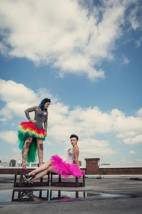 the-couture-company-alternative-bespoke-unusual-crazy-wedding-dress-coloured-colourful-hot-pink-rainbow-tattoo-corset-assassynation (9)