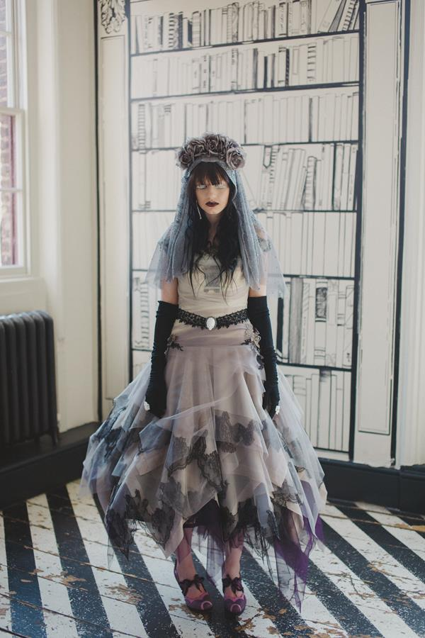 Gorgeous Gothic a Tim Burton inspired shoot at the Victorian