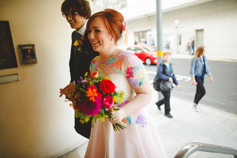 the-couture-company-alternative-bespoke-wedding-dresses-dress-bright-colours-lace-polka-dot-spot-coloured-quirky-photo-camera-hannah (17)
