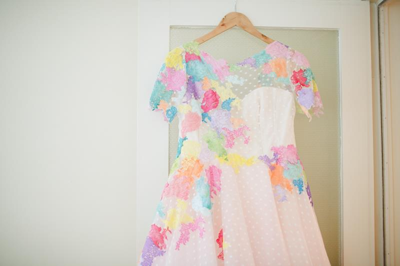 the-couture-company-alternative-bespoke-wedding-dresses-dress-bright-colours-lace-polka-dot-spot-coloured-quirky-photo-camera-hannah (2)