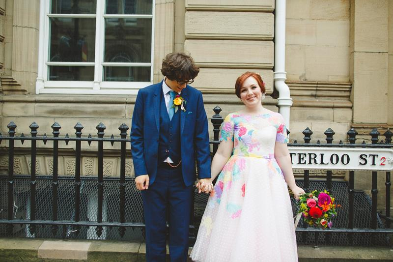 the-couture-company-alternative-bespoke-wedding-dresses-dress-bright-colours-lace-polka-dot-spot-coloured-quirky-photo-camera-hannah (24)