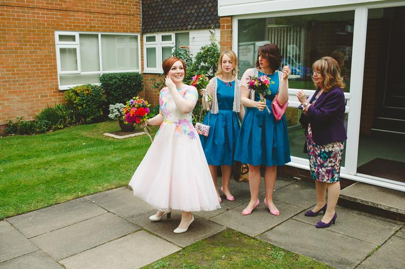 the-couture-company-alternative-bespoke-wedding-dresses-dress-bright-colours-lace-polka-dot-spot-coloured-quirky-photo-camera-hannah (7)
