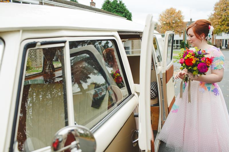 the-couture-company-alternative-bespoke-wedding-dresses-dress-bright-colours-lace-polka-dot-spot-coloured-quirky-photo-camera-hannah (8)