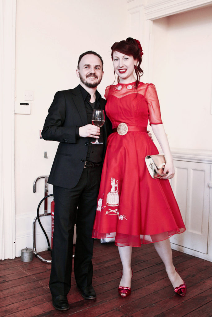 the-couture-company-alternative-wedding-bespoke-dress-miss-foodwise-pride-and-pudding-red-gown (2)