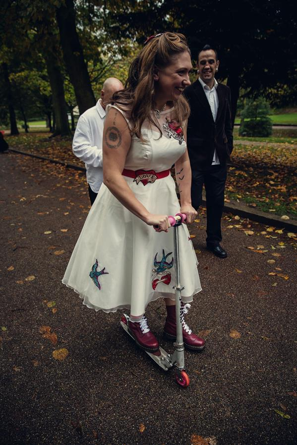 The-couture-company-alternative-bespoke-custom-made-wedding-quirky-dresses-rockabilly-1950s-tea-length-swing-vintage-lace-tattoo-tattooed-embroidered-lace-dress-bride-blac-red-heart-PhotoBy-Assassynati (7) (Copy)